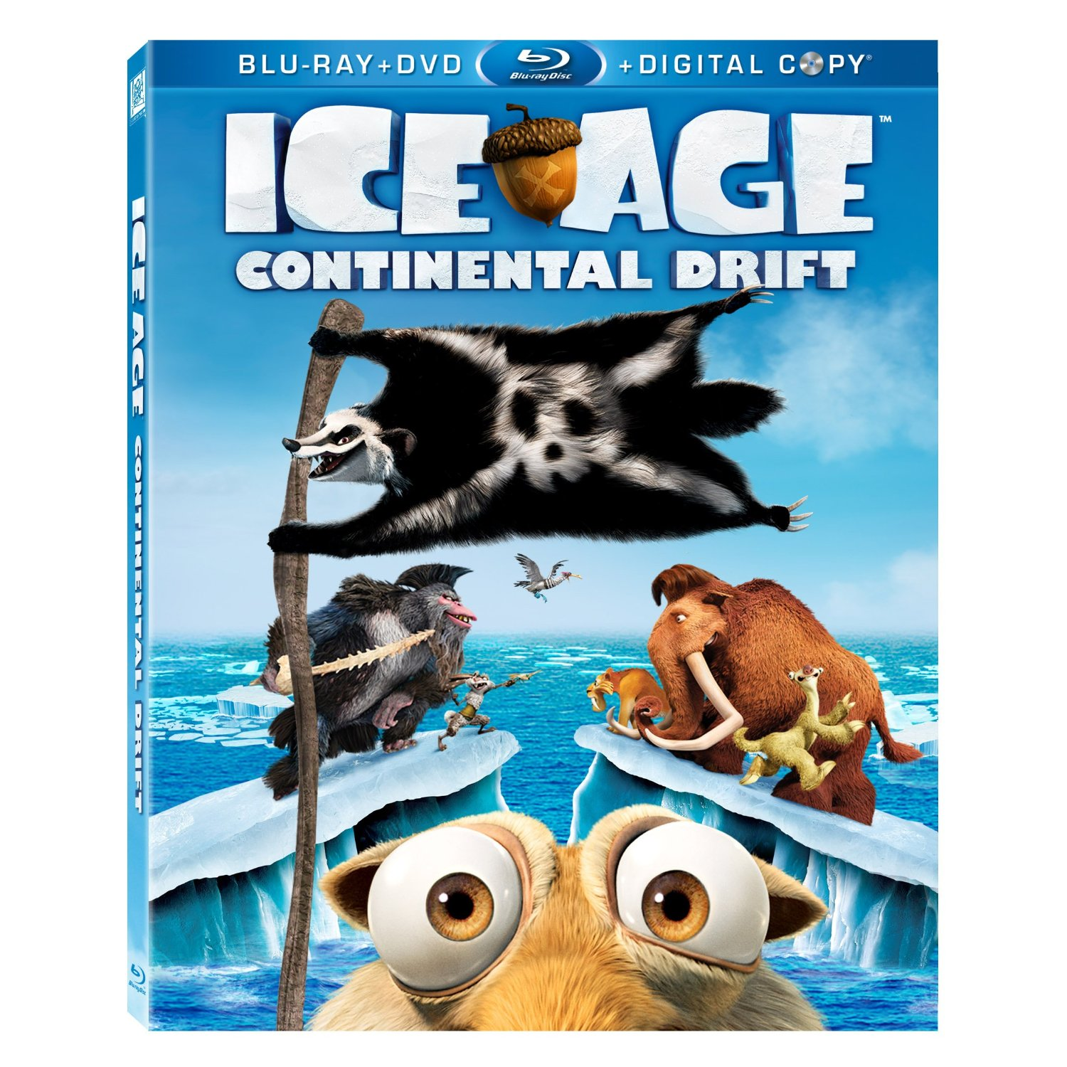ice age: continental drift now available on blu-ray™ 3d, blu-ray