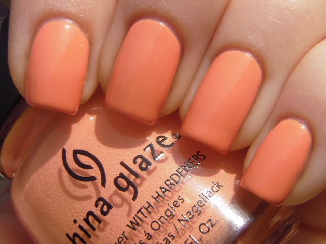 peachy keen china glaze - dupe di june chanel