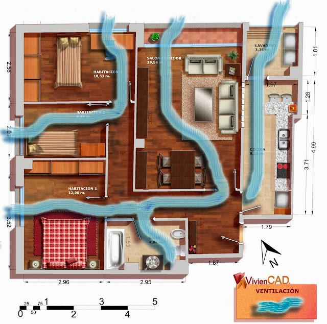 plano ventilacion viviencad