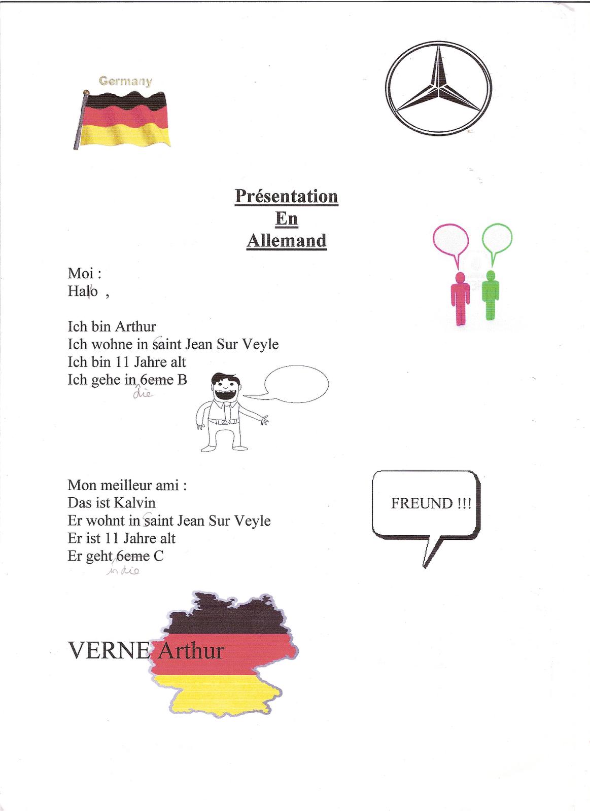 exercice allemand 6eme