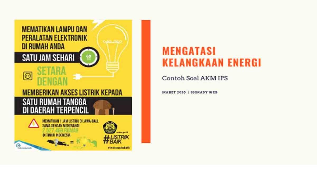 Soal Akm Online Ips Mengatasi Kelangkaan Energi