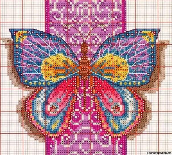 Mariposas Cruz En Punto De