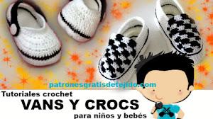 Cómo Tejer Crocs y Vans para Bebés / Tutoriales