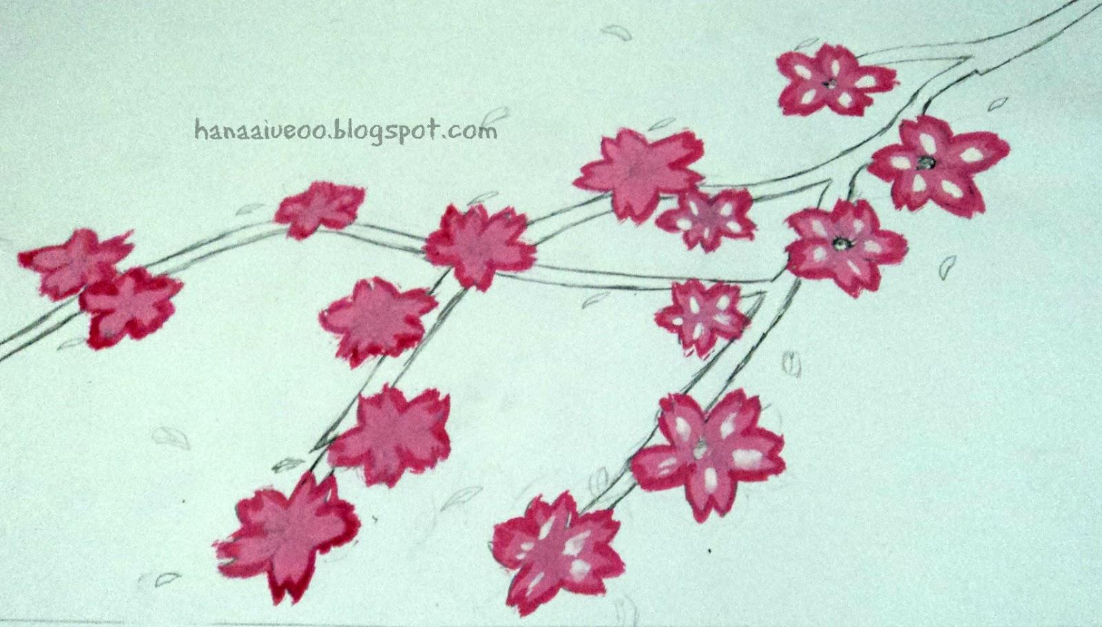 Sketsa Gambar Bunga Sakura Kartun Koleksi Gambar Bunga