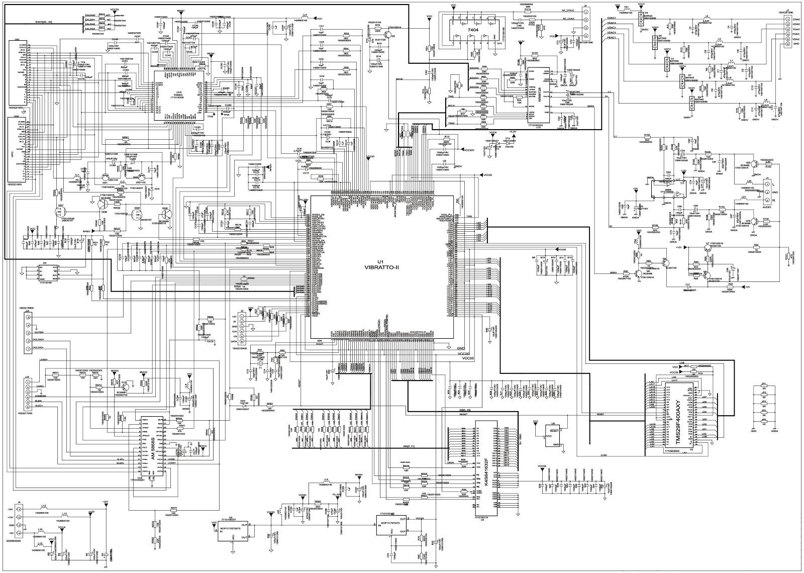 crt tv circuit diagram
