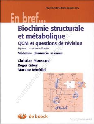 Télécharger Livre Gratuit Biochimie Structurale et Métabolique pdf
