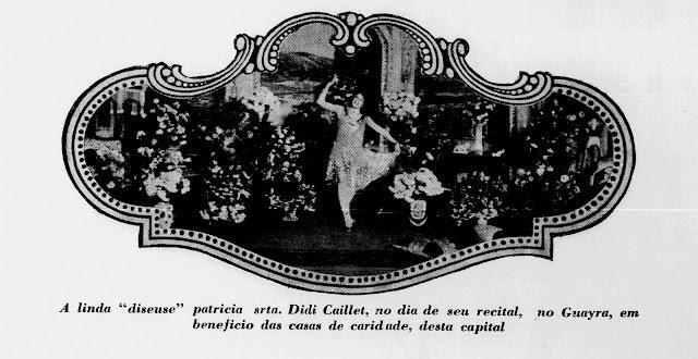 Foto de Didi Caillet na revista Illustração Paranaense de janeiro de 1928