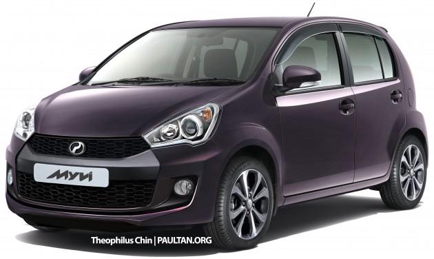 Wajah Baru Perodua Myvi Facelift 2015  Blogger Lelaki