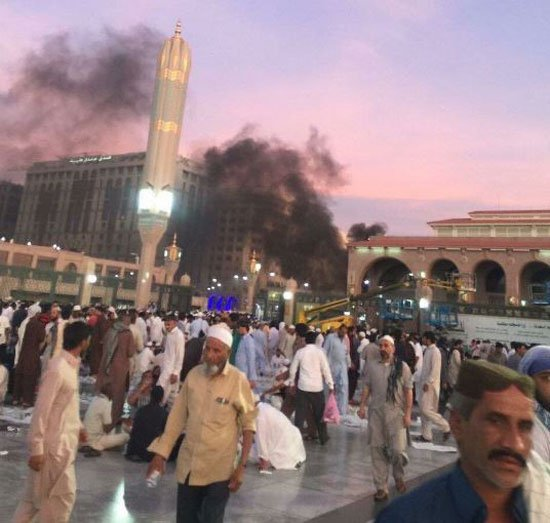 صور التفجير قرب المسجد النبوى