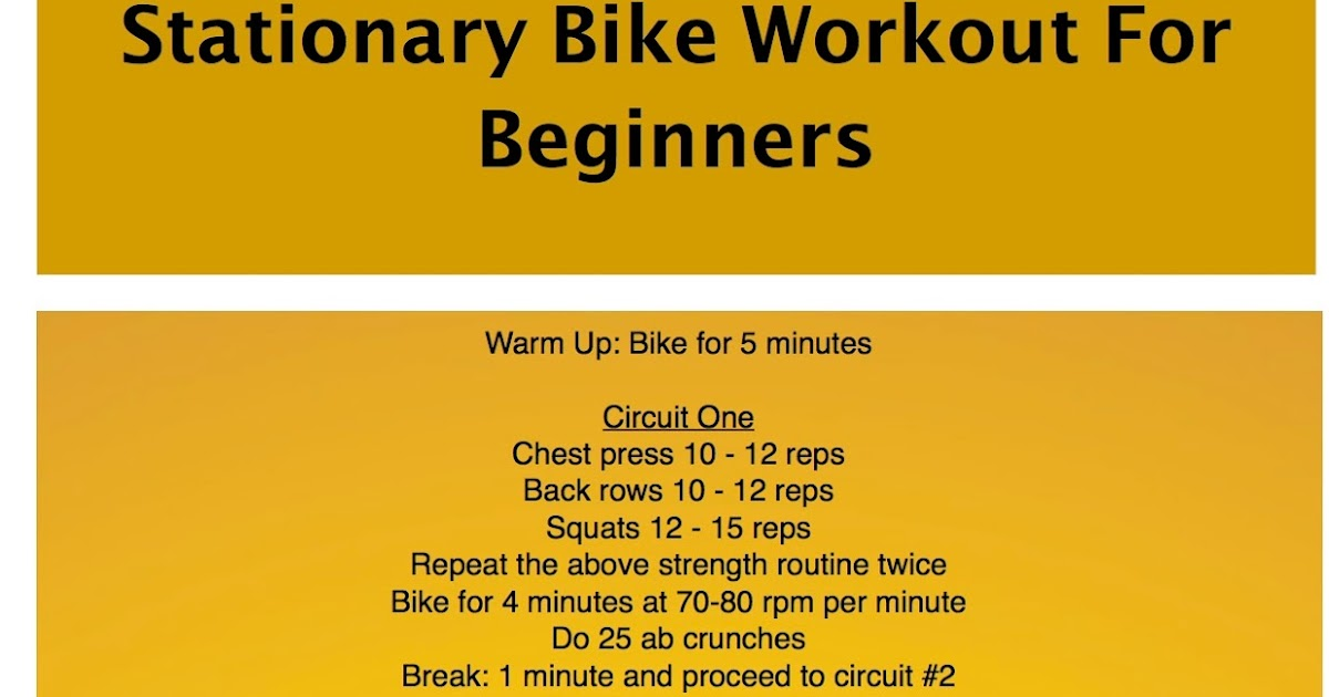 The Frugal Exerciser The Stationary Bike Workout