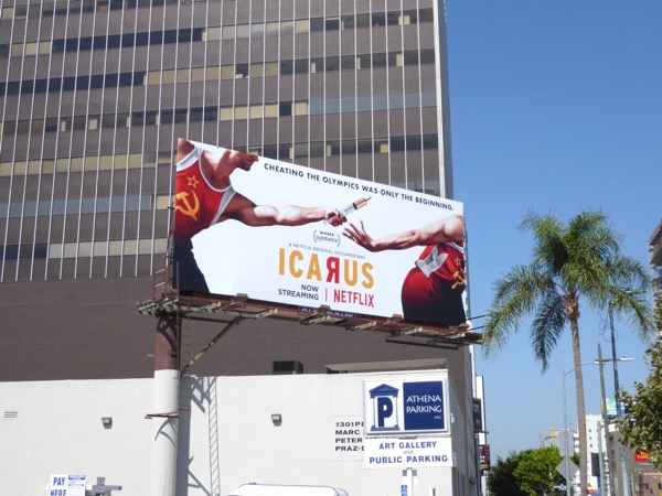 Icarus documentary billboard