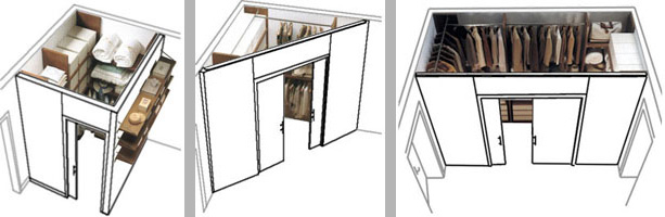 Dori design - Cabina armadio in camera da letto piccola ...