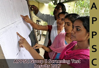 APPSC Group 2 Screening Test Results 2017, Cutoff Marks, Selected Candidates List