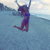 See Davido's babymama in a very hot Bikini during her vacation