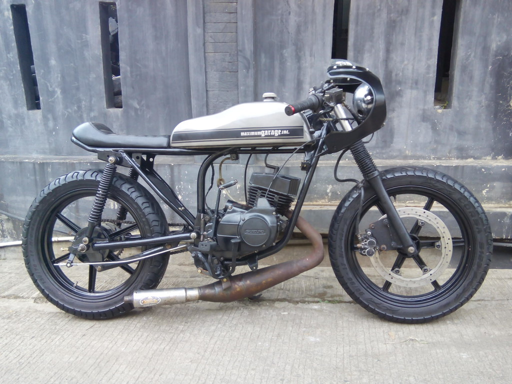 lapak motor kustom: cafe racer suzuki trs 120cc tahun 1986