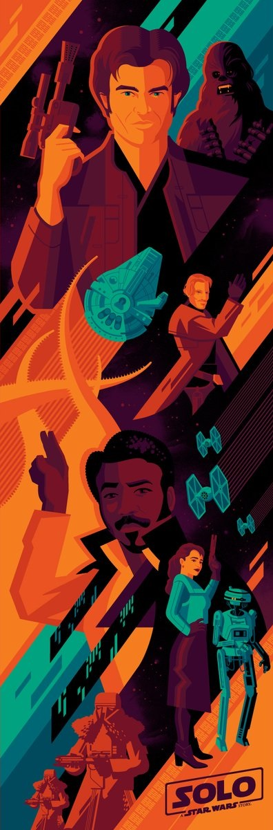 Solo A Star Wars Story IMAX at Regal Cinemas Movie Poster by Tom Whalen 0