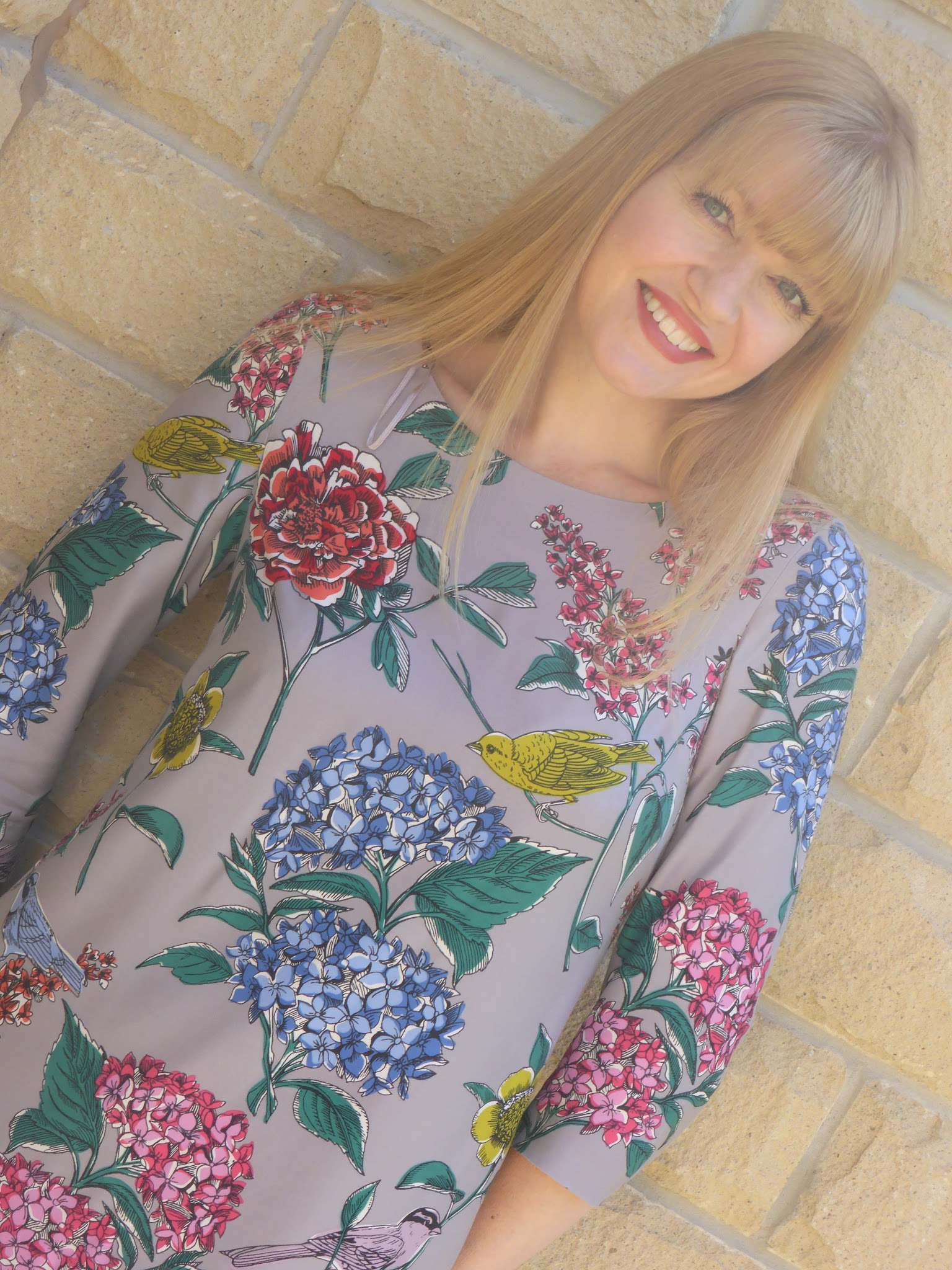 What Lizzy Loves wears Boden silk Eliza tunic dress