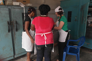 Virtuous womens community bakery in Ghana #goodwork #teamhonk  #comicrelief