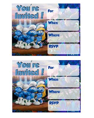 Smurfs Lost Village Invitations