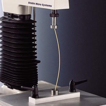 Spaghetti flexure test using the TA.XTplus Texture Analyser