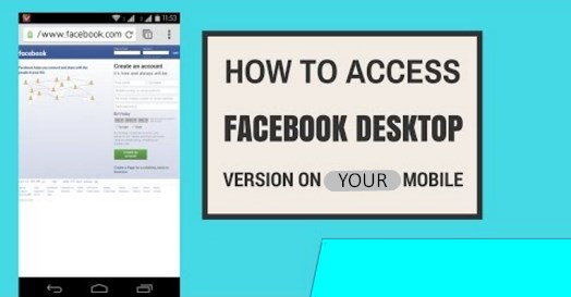 How to access facebook desktop version on mobile