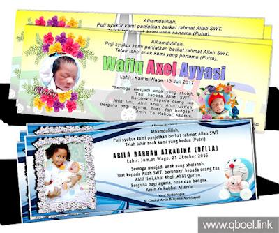 Desain Sticker Undangan Kelahiran Bayi