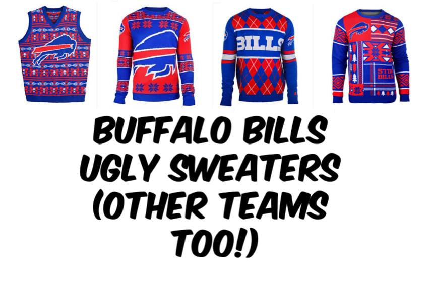 Buffalo Bills Nfl Ugly Sweaters Other Teams Too Deals And To Dos