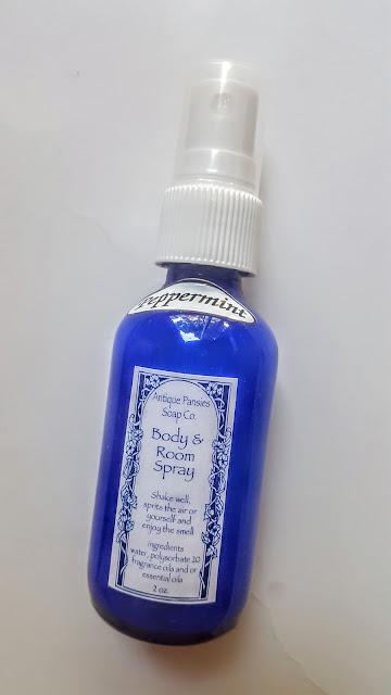 primitive pansies peppermint room spray