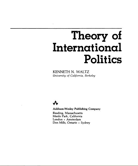 Neo Institusionalisme Adalah: Teori Neo-Realisme Dalam Hubungan Internasional
