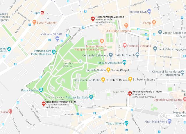 map vatican city