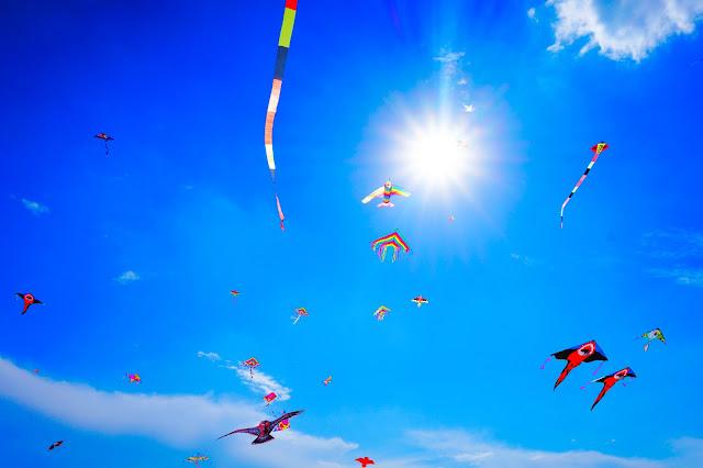 papalotes en el cielo