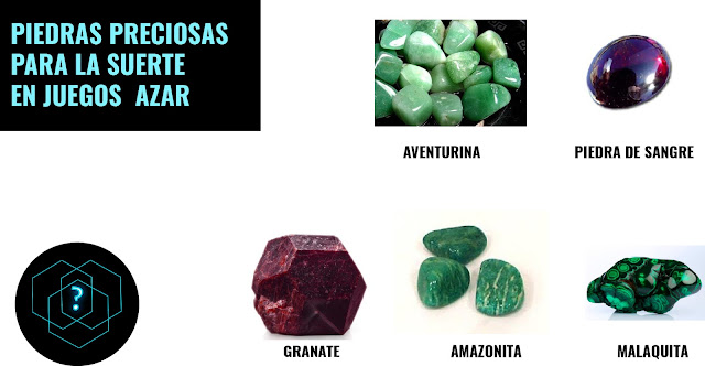 piedras preciosas para atraer la suerte en el azar y juegos