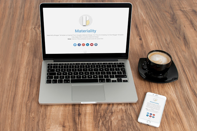 Materiality Material Best Blogger Template