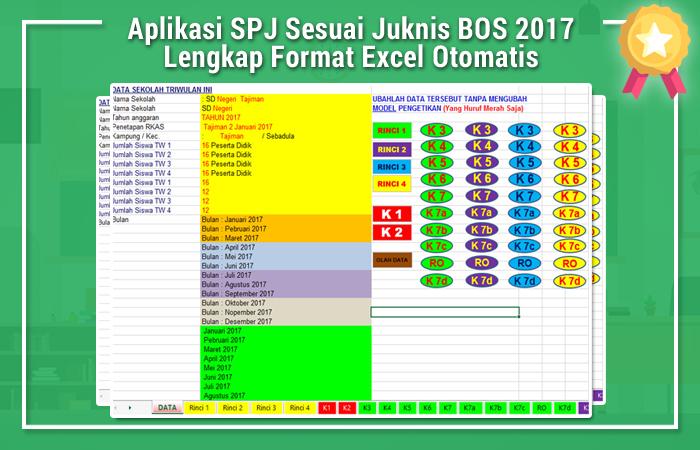 Aplikasi SPJ Sesuai Juknis BOS 2017 Lengkap Format Excel Otomatis