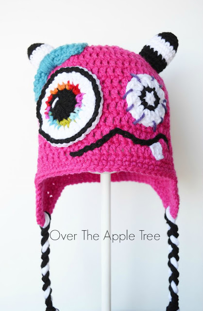 Crochet Monster Hat by Over The Apple Tree