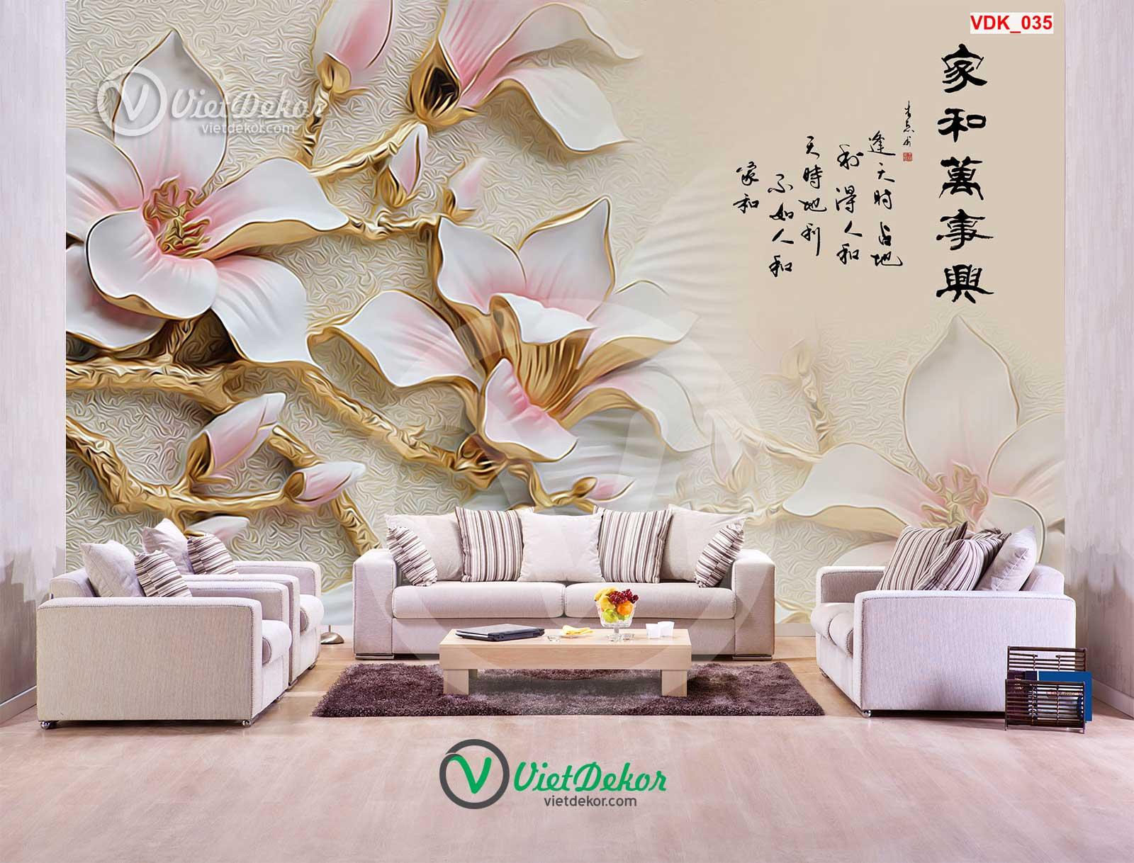 Tranh dán tường hoa phong lan