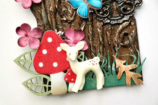 Whimsical Woodland Scene on Fairy Door Arch by Dana Tatar for Tando Creative