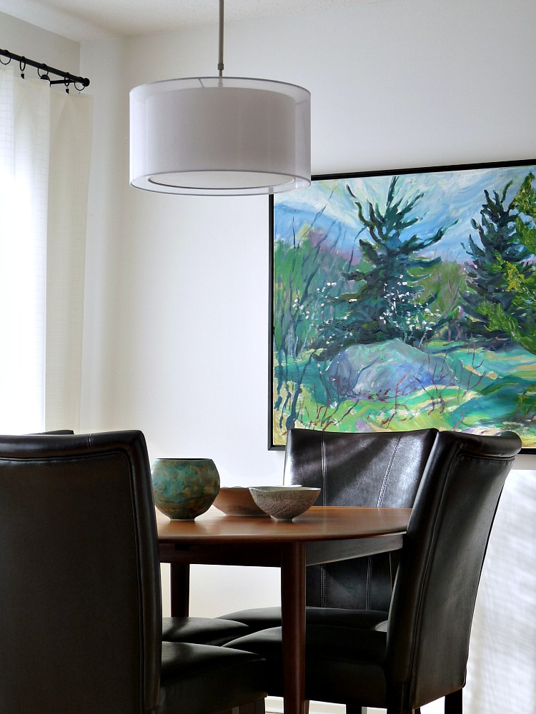 Large Scale Art In The Dining Room Dans Le Lakehouse