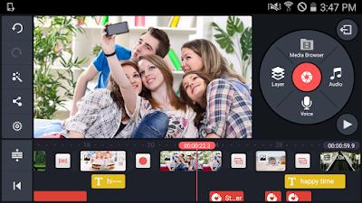 Tampilan Aplikasi KineMaster Pro Video Editor