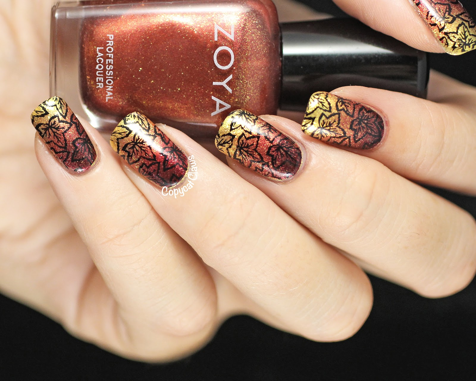 fall inspired nail designs
