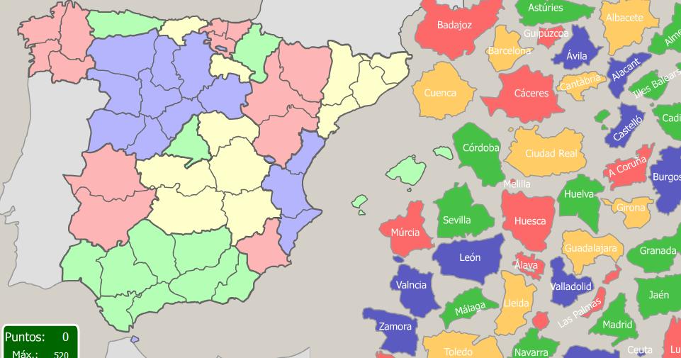 Mapa Interactiu Provincies Espanya.6e Mapa Interactiu Provincies D Espanya 1