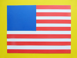 USA Flag Craft Tutorial by Paula's Preschool and Kindergarten