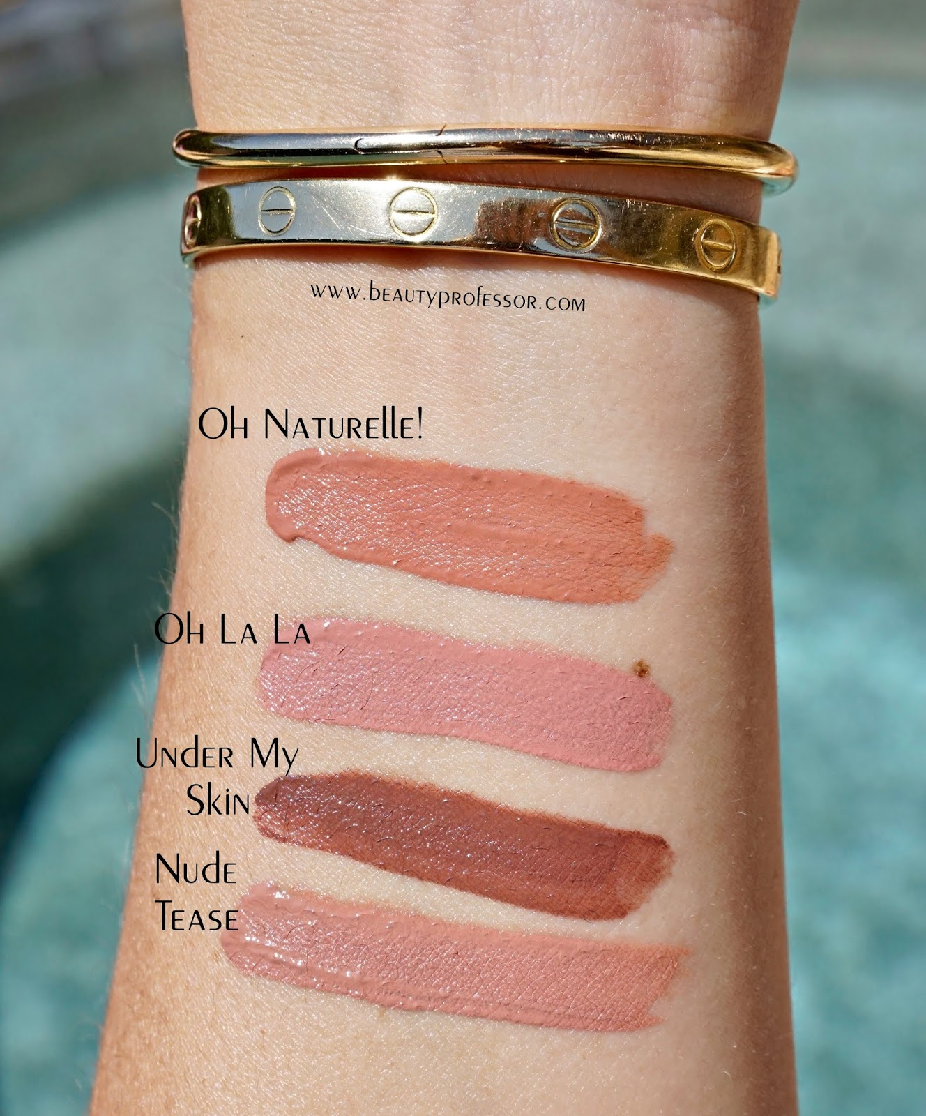 Estee Lauder Violette Oh Naturelle Pure Color Envy Paint on Liquid Lip Color swatches