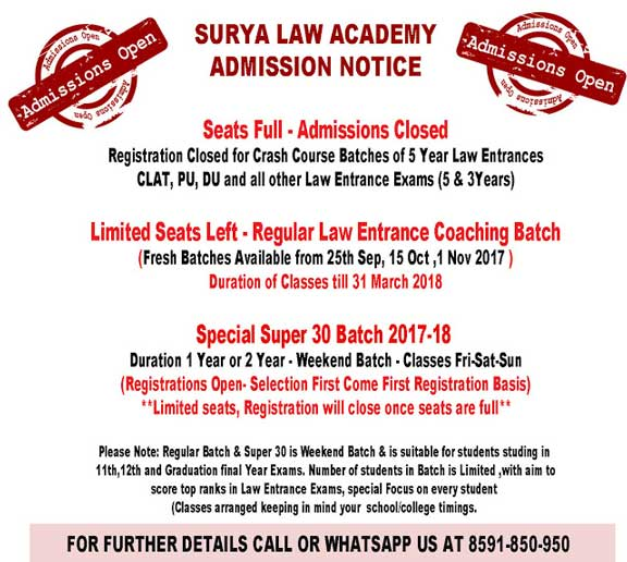 limited seats enroll today for law entrance coaching classes
