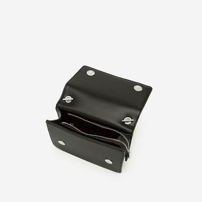 Túi Đeo Chéo Vân Nổi Kẻ Ô - SHO 0147 - Màu Đen