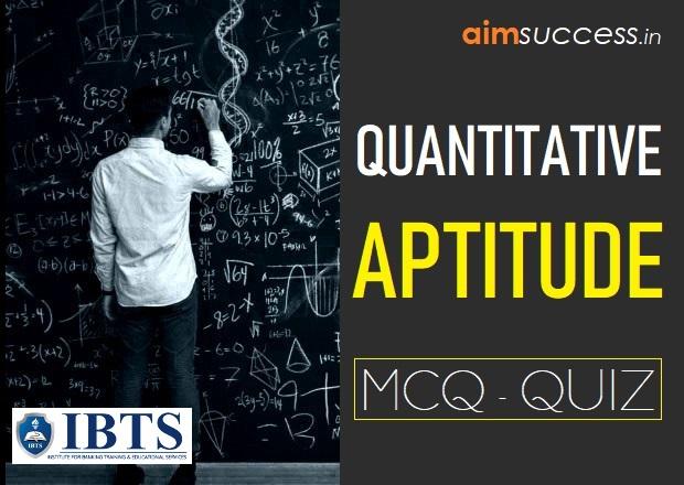 Quantitative Aptitude MCQs