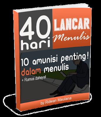 Ebook 40 hari lancar menulis