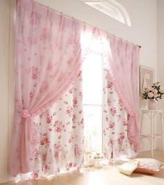 quartos românticos - cortinas