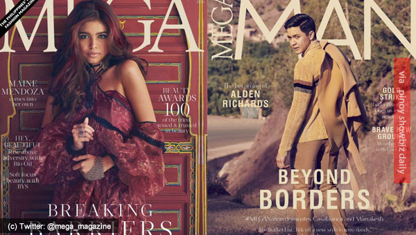 Maine Mendoza and Alden Richards grace covers of MEGA Magazine October 2016 issue