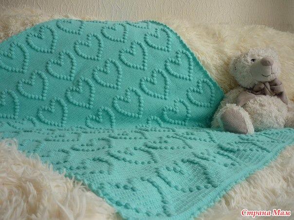 Mes favoris tricot crochet mod le gratuit un plaid pour b b au crochet - Modele plaid tricot gratuit ...